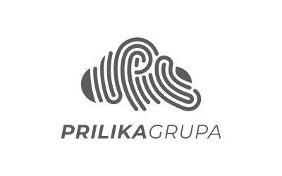 Logotip Prilika Grupe simbolizira ostavljanje jedinstvenog traga kreativaca na projektu svakog klijenta