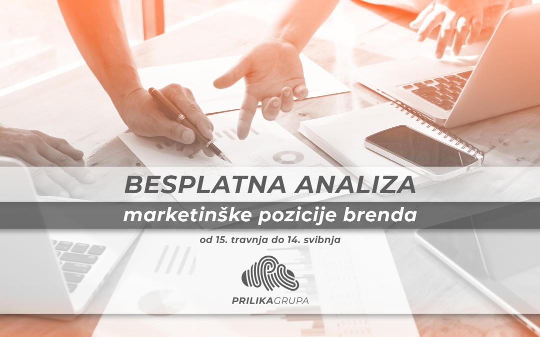 Prijavite se za besplatnu analizu svoje marketinške pozicije – do 14. svibnja na naš mail